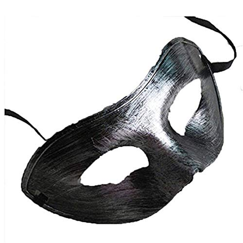 MMMMM Face mask Shield Veil Guard Screen Domino False Front Halloween Dance Party Party mask Male,Black