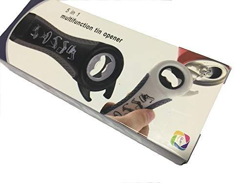 SLMT Clay Stick Multi Opener,Plastic Bottle Opener , Can Opener, Progressive Jar Opener Lid Twist Off Gripper , Screw Top Bottle Opener Keychain(white-gray) ()