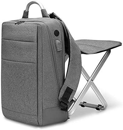 メンズバックパック,ビジネスメンズ15.6インチのラップトップを保持することができますバックパック、バッグ、多機能バックパック付き折りたたみスツール