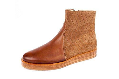 Neosens - Zapatos de cordones de Piel Lisa para mujer marrón marrón 37