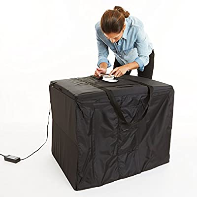 AmazonBasics Portable Foldable Photo Studio Box with LED Light – 25 x 30 x 25 Inches