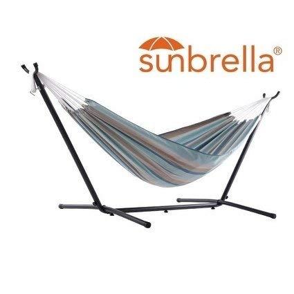 Vivere C9SUNG Sunbrella Stand Hammock Combo, Gateway ()