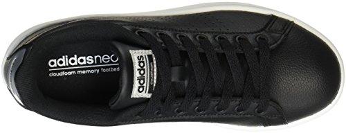 Cloudfoam Women's Sneakers adidas Low Plamet Negbas Advantage Negbas Top Black gpEFdw