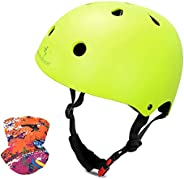 Skateboard Helmet for Youth/Adults, Cycling Helmet Adjustable for Bike, Scooter, Roller Skating, A Sports Head