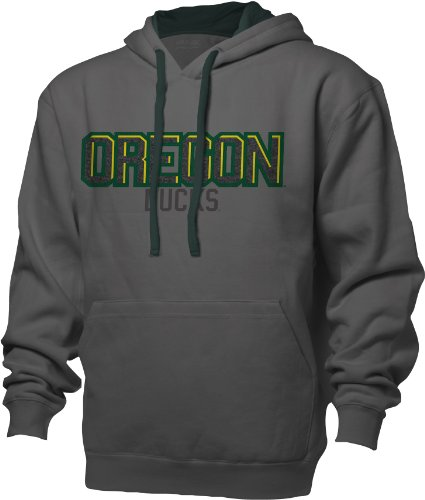 NCAA Oregon Ducks Benchmark Colorblock Pullover Hood, Medium, Graphite/Athletic Hunter