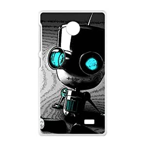 JIANADA Cute Seated robot Cell Phone Case for Nokia Lumia X