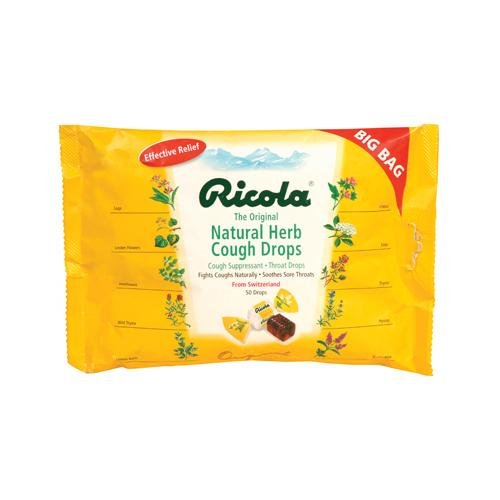 Ricola Cough Drops - Original Herb - Case Of 12 - 50 Pack