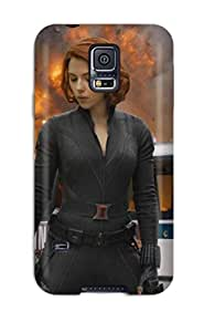 Durable Black Widow Back Case/cover For Galaxy S5