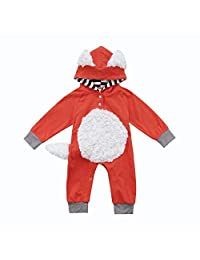 Newborn Baby Girls Boys 3D Cartoon Onesie Romper Jumpsuit Bodysuit Kids Toddler Infant Hooded Outfit One-Piece