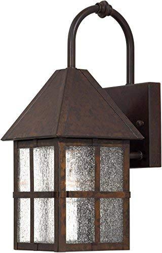 Minka Lavery Outdoor Wall Light 8581-51 Townsend Solid Brass Exterior Wall Lantern, 100 Watts, Brass [並行輸入品] B07R5PTFG6