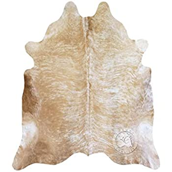 Amazon Com Palomino White And Beige Cowhide Rug 6ft X 8