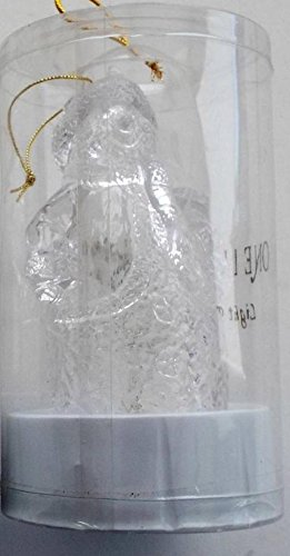 (Snowman with Wreath - Clear Acrylic Snowmen Illuminated Ornament - 6