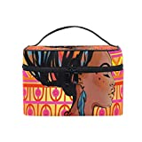 Makeup Bags Organizer Africa Woman Art Large Travel Cosmetic Beauty Storage Toiletry Pouch for Women