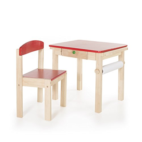 Guidecraft Art Table & Chair Set - Red G98049 by Guidecraft