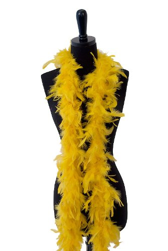 WGI 6' 40g Adult Feather Boa, Gold]()