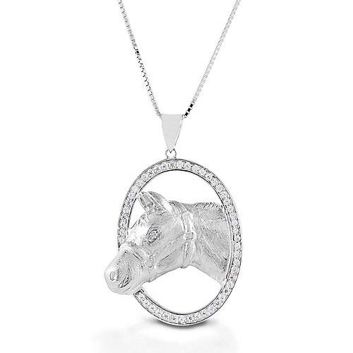 Kelly Herd Oval Halter Horsehead Necklace ()