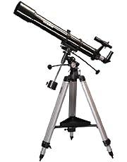 Skywatcher Evostar-90 (EQ-2) (90 mm (3,5 inch), f/900) refractor telescoop zilver