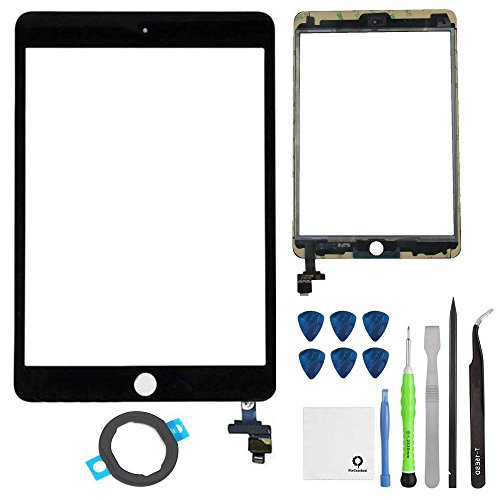 Fixcracked Touch Screen Replacement Parts Digitizer Glass Assembly for Ipad mini 3 + Professional Tool Kit (GSM CDMA Black Repair Kit) (Ipad 3 Mini Screen Replacement)