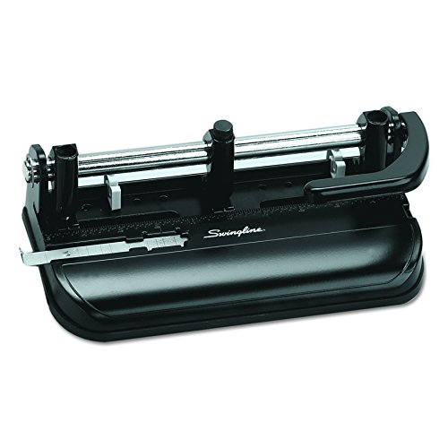 Swingline 74350 32-Sheet Lever Handle Two-to-Seven-Hole Punch, 9/32