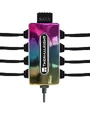 Thermalright ARGB Fan Hub, controlador de ventilador de PC de 10 puertos de 3 pines, concentrador ARGB de 5 V soporta hasta 10 ventiladores, controlador ARGB para refrigeración de chasis (multicolor)