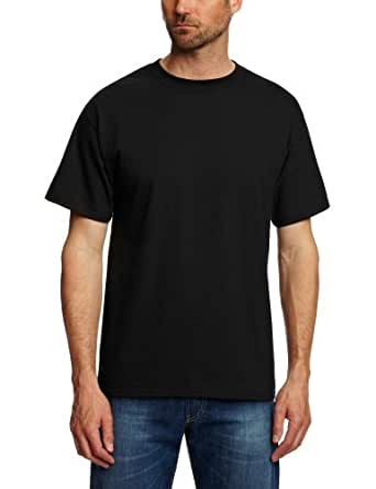 Hanes Men's Short-Sleeve Beefy T-Shirt,Black,XXX-Large