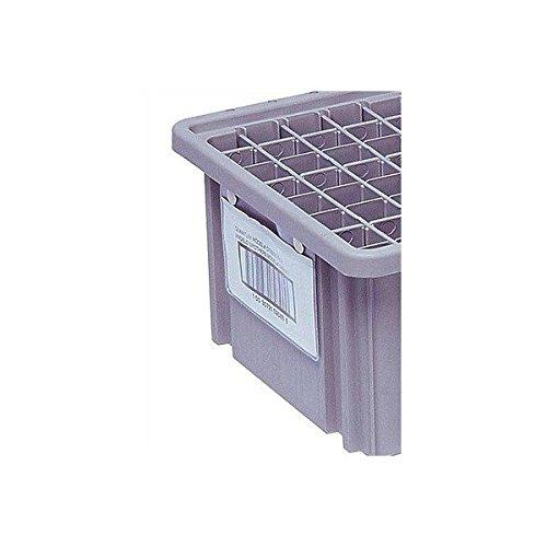 Quantum Storage Systems LBL5X8 Label Holder for Dividable Grid Container DG92080, DG93080, DG93120, Clear, 6-Pack
