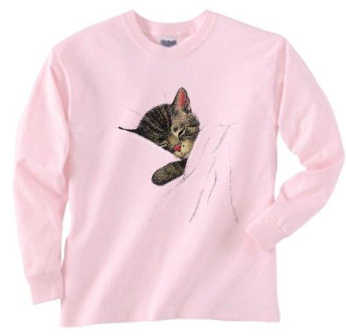 Chessie the Sleeping Kitten Sweatshirt Pink Adult XL [20019pnk]