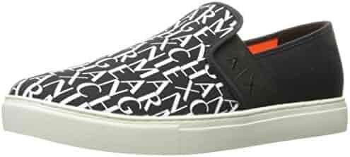A X Armani Exchange Men's Logo Slip on Fashion Sneaker