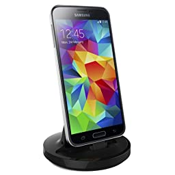 RND Dock for Galaxy S5 and Note 3 with USB 3.0 and 2.1A Charger (compatible without or with most cases including OtterBoxes)(black)
