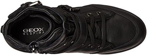 Geox D7267C021BV, Zapatillas Altas Mujer Schwarz (BLACKC9999)