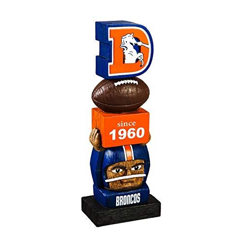 Team Sports America Denver Broncos Vintage NFL Tiki Totem Statue ()
