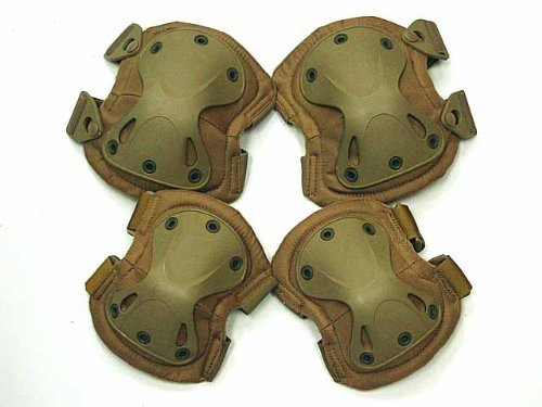 FIRECLUB Airsoft SWAT X-Cap Airsoft Paintball Knee & Elbow Pads Desert Tan