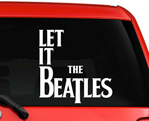 The Beatles Let it be unique design car truck laptop macbook window decal sticker 6 inches white