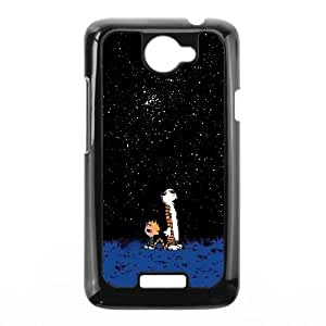 Calvin and Hobbes Starry Night HTC One X Cell Phone Case Black T9993507