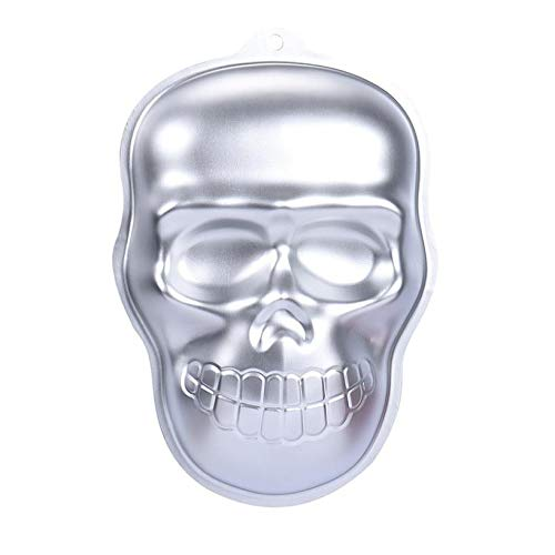 1 piece 2017 new cake mold fondant mold 3D decorating cake chocolate tools skull head Halloween moulds mold baking -