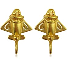 Smart Across The Puddle 24k Gp Ancient Aliens Flyer/golden Jet-9 Dangle Earrings Earrings