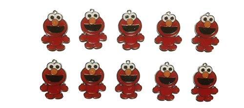 (New Horizons Production Elmo Character Set of 10 DIY Charms Pendant)