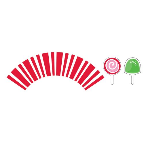 [Creative Converting 90142 12 Count Candy Canes Holiday Cupcake Wrappers with Picks] (Holiday Wrapper)