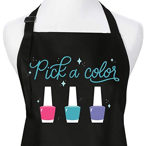 Pick A Color Nail Polish Nail Tech Cosmetology Apron