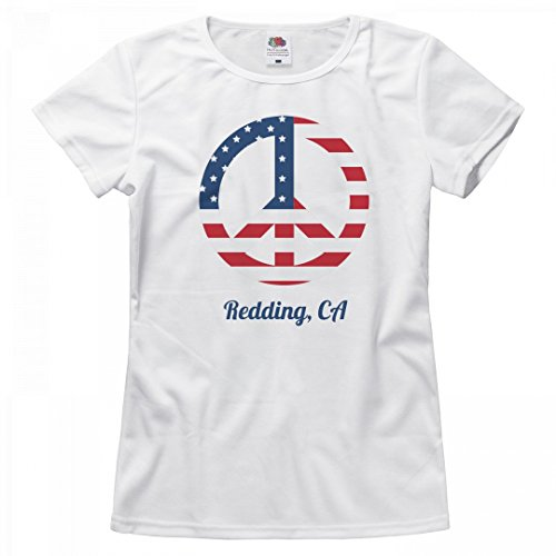 Patriotic Peace Sign Redding, CA: Ladies Relaxed Fruit Of The Loom - Clothing Redding Women's Ca