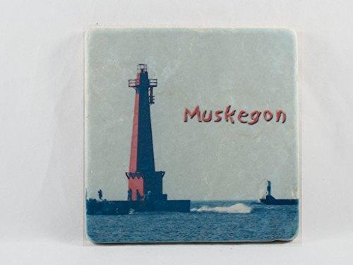 (Tumbled Stone Tile, Muskegon Michigan Lighthouse Design)