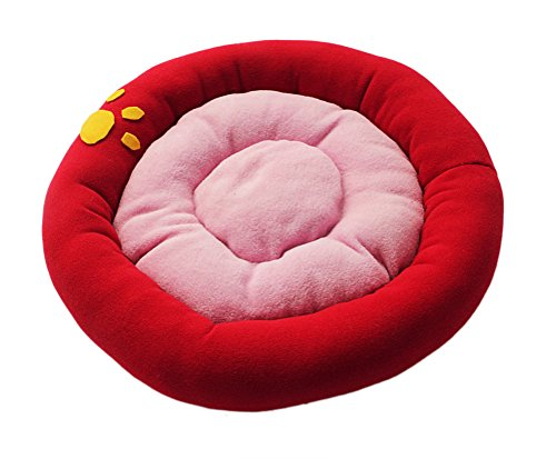 41KkDra9UDL - Kevins Bridal Round Donut Cat and Dog Cushion Bed Velvet Circle Dog Beds for Improved Sleep