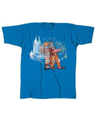 Fun T-Shirt mit Clownpaar Motiv - Karneval Jecken Fasching Helau Alaaf Clown Clowns Partnersuche Kontakt Funshirt Shirt Geschenk Fun Spaßshirt Disco Party S M L XL XXL