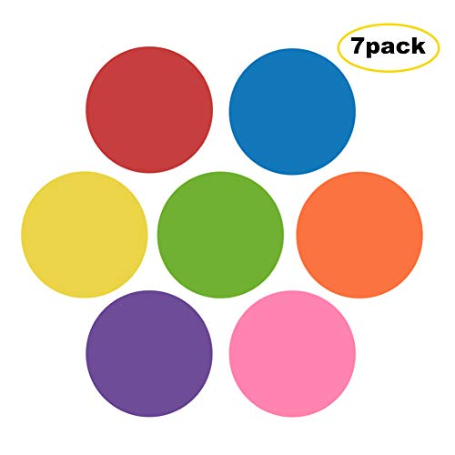 Dry Erase Dots (REIDEA 7 Pack Dry Erase White Board Marker Removable Vinyl Dot Circle Set for Drills & Training School Teaching Progress Classroom Students')