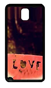 Watermelon Love Valentines Day Custom Designer Samsung Galaxy Note 3 / Note III/ N9000 - TPU - Black