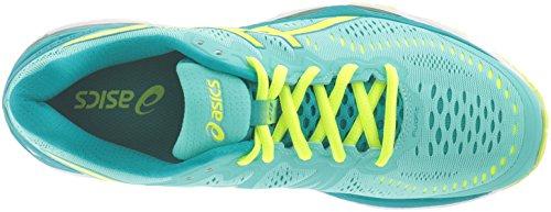 Asics Gel-kayano 23 - Zapatillas de running para mujer azul Cockatoo/Safety Yellow/Lapis Cockatoo-Safety Yellow-Lapis