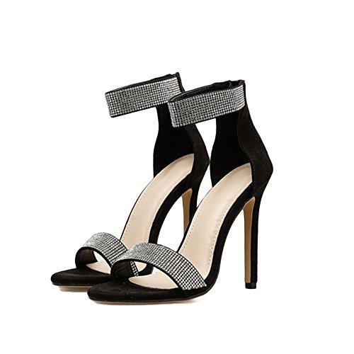 71b84a32d Señoras Strappy Sandalias DE Alto Taco Zapatos Peep Toe Party Zapatos De  Mujer Boca De Pescado