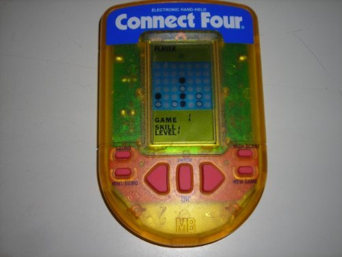 Milton Bradley Electronic Handheld Game - 1995 Milton Bradley Connect Four Electronic Hand Held Game, Works