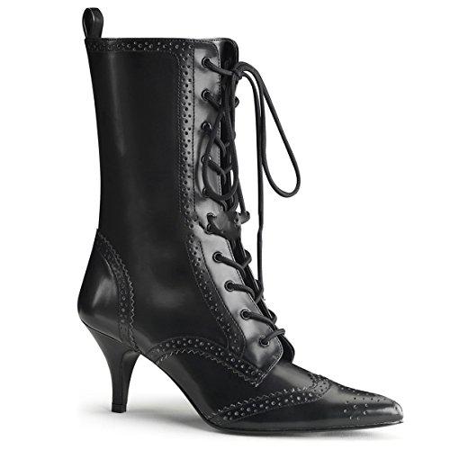 Demonia Fury-100 - Victorianische High Heels Stiefeletten Gothic Schuhe 36-43