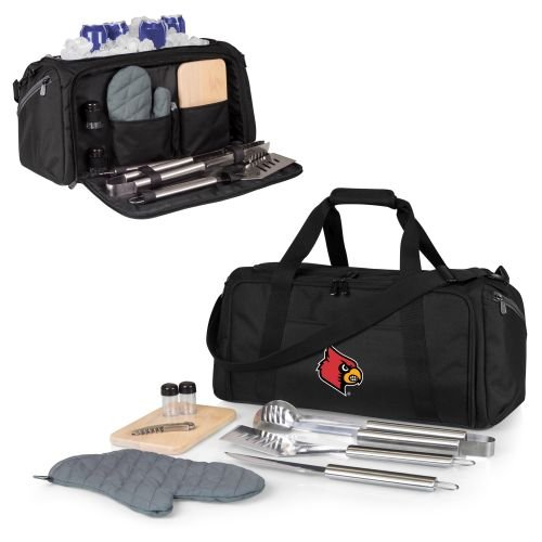 - PICNIC TIME NCAA Louisville Cardinals BBQ Kit Cooler Tote with Barbecue & Accessories